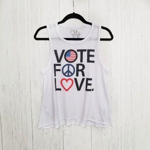 NWOT Chaser VOTE FOR LOVE Graphic Tank Size XSmall
